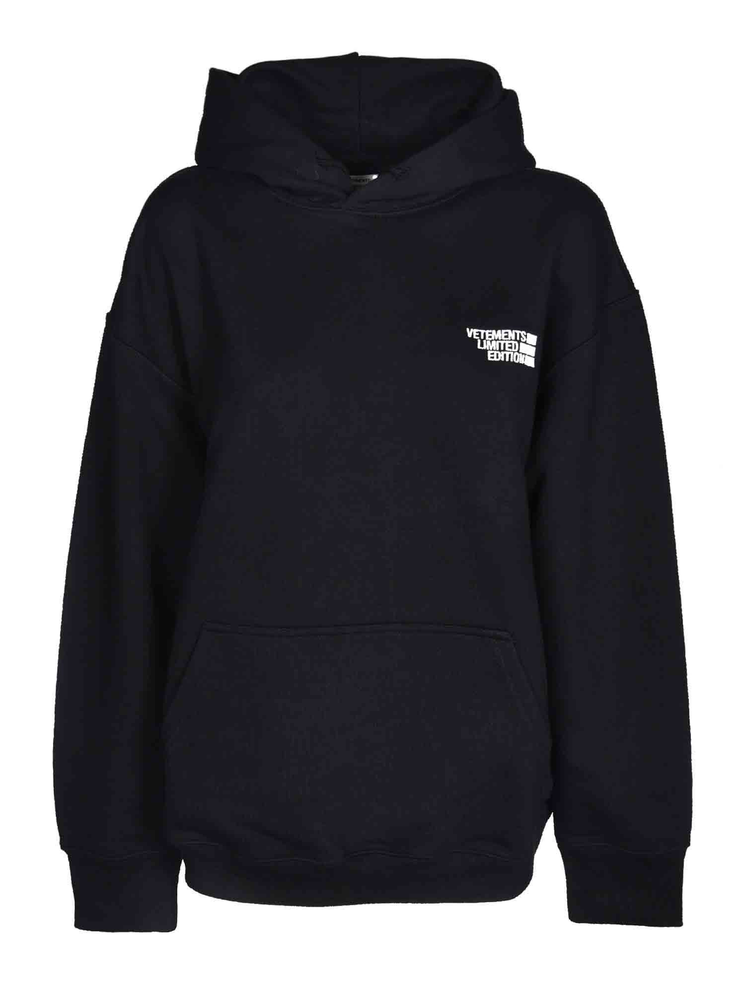 Vetements LOGO HOODIE IN BLACK