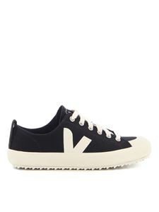Veja - Nova cotton sneakers in black