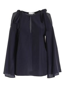Ballantyne - Bows blouse in blue