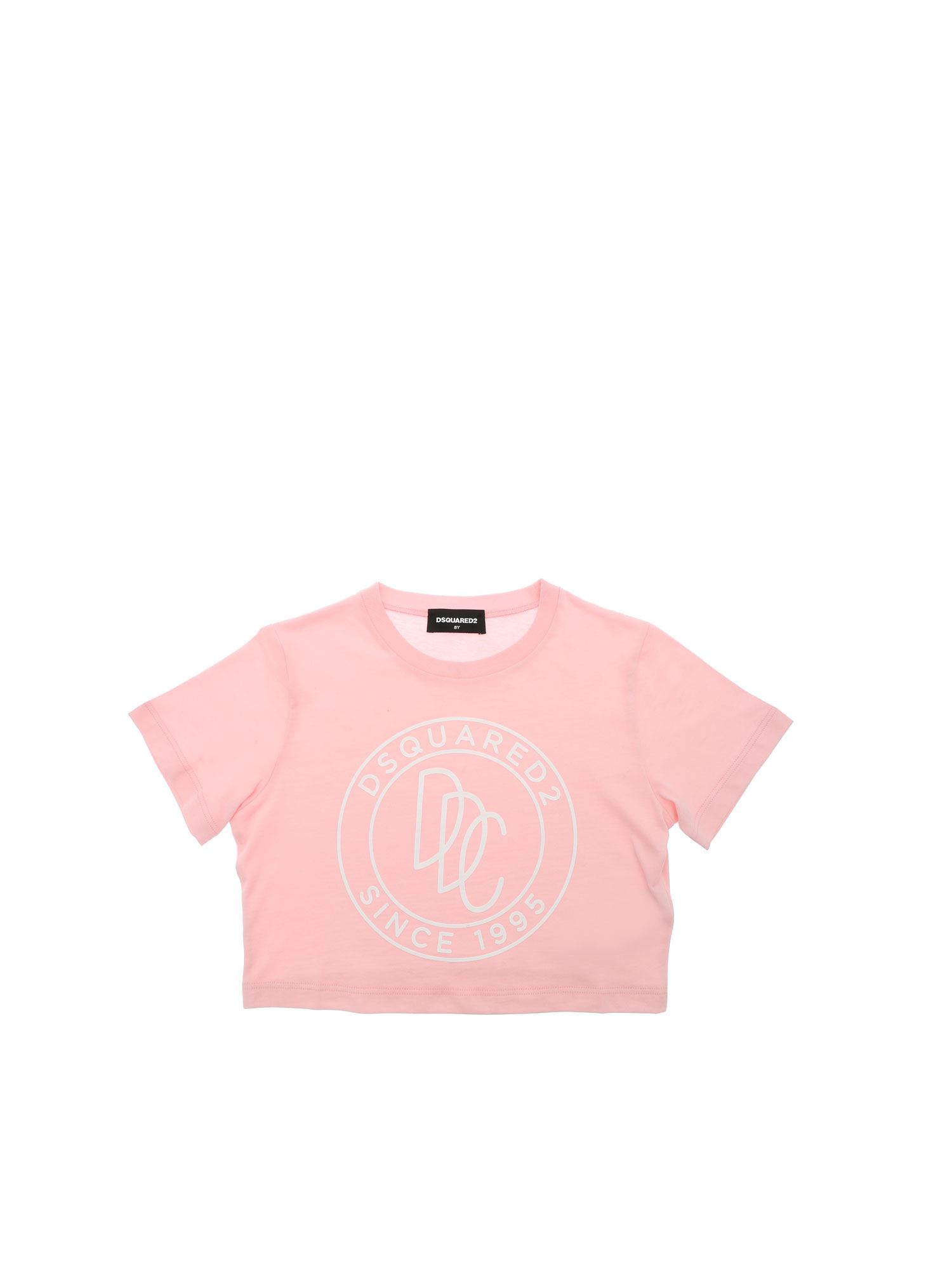 Dsquared2 CONTRASTING PRINT T-SHIRT IN PINK