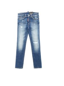 Dsquared2 - Destroyed effect details jeans in blue