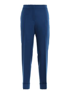 PT Torino - Andrea wool blend pants in blue
