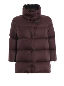 Fay - Flared down jacket in burgundy