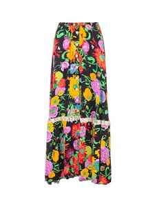Gucci - Floral printed skirt in multicolor