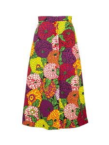 Gucci - Floral print long skirt in multicolor
