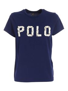 POLO Ralph Lauren - Decorated logo T-shirt in blue