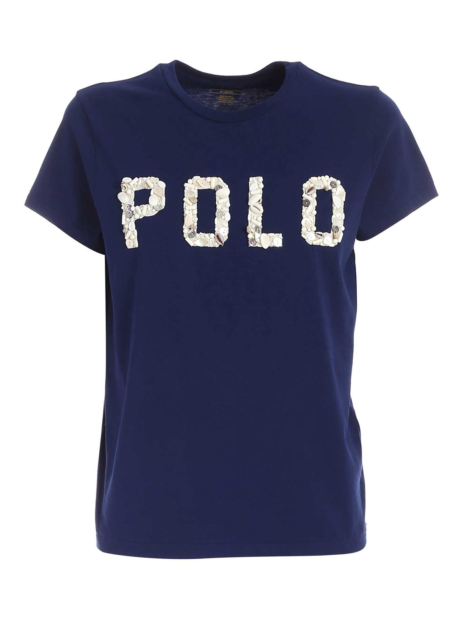 Polo Ralph Lauren POLO RALPH LAUREN DECORATED LOGO T-SHIRT IN BLUE