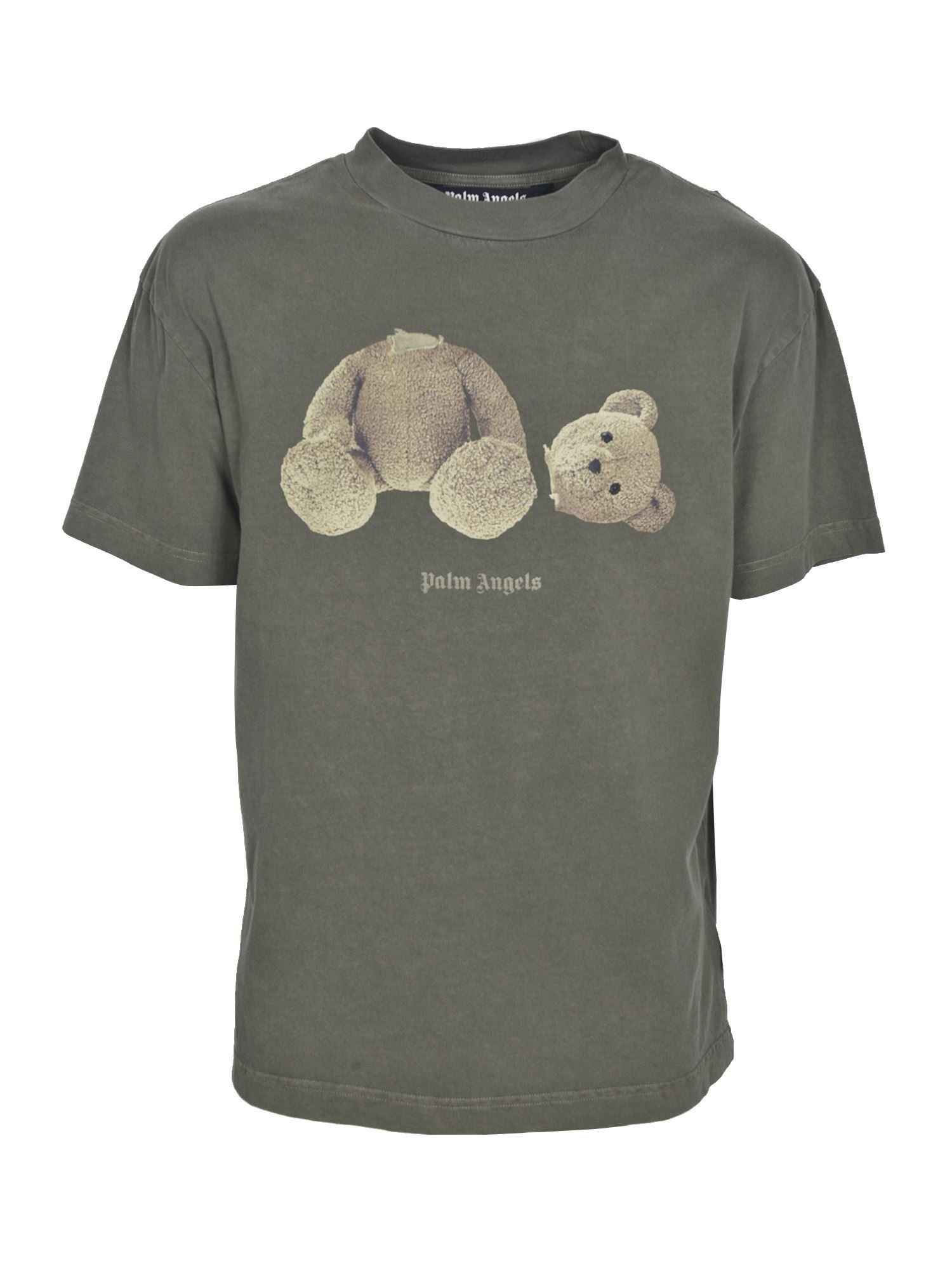 Palm Angels BEAR T-SHIRT IN ARMY GREEN
