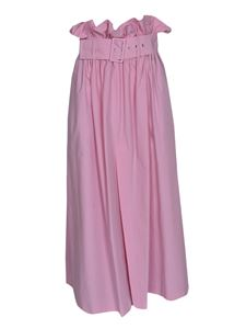 MSGM - Long gathered waist skirt in pink