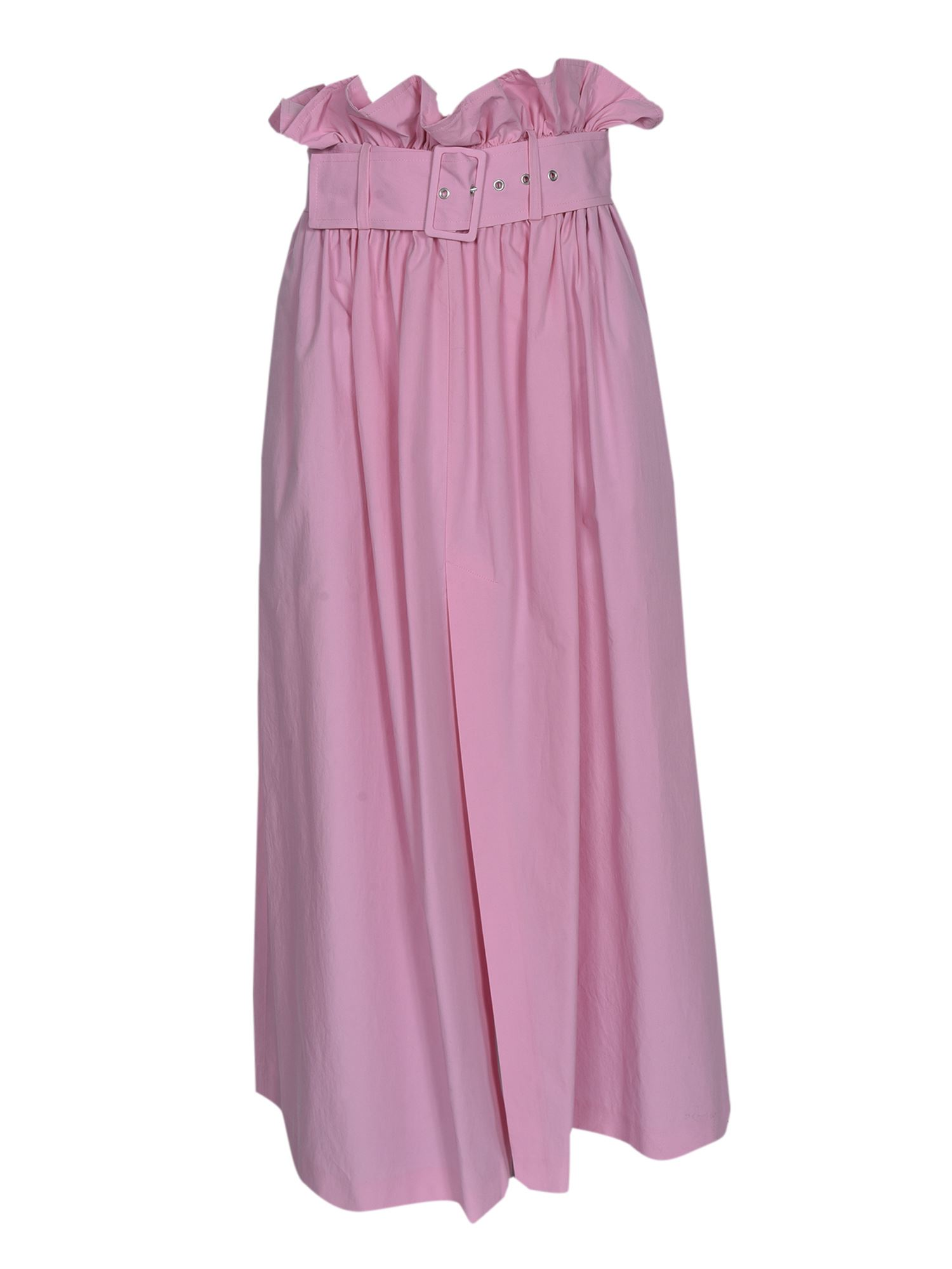 Msgm LONG GATHERED WAIST SKIRT IN PINK