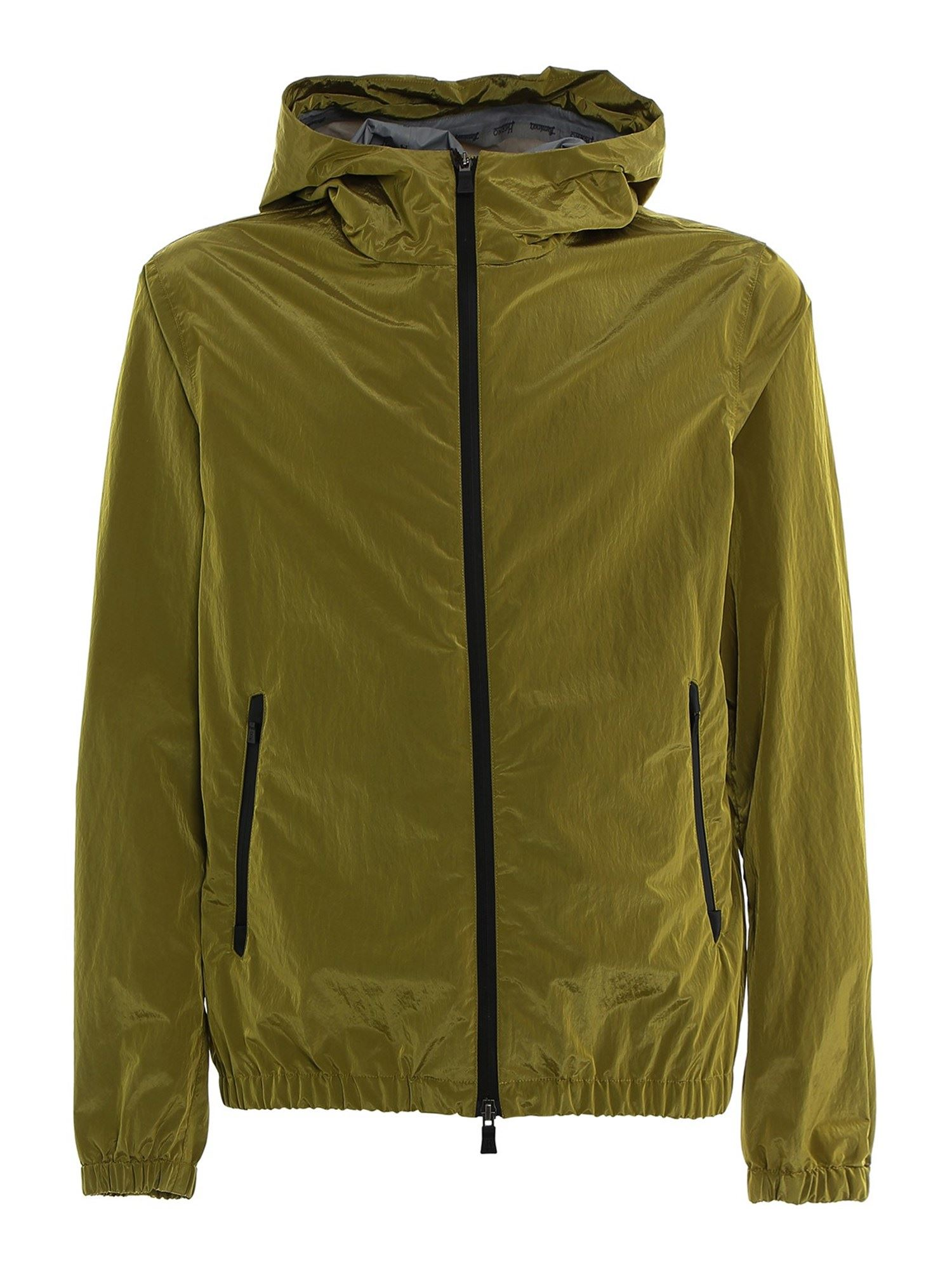 Herno TECH FABRIC JACKET IN YELLOW