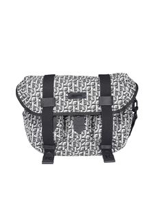 Kenzo - Tech fabric shoulder bag in grey