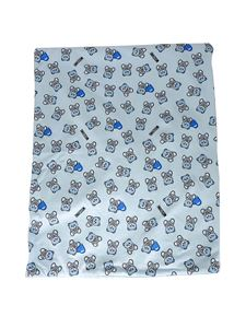 Moschino Kids - Teddy Bear printed blanket in light blue