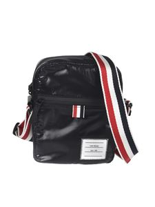 Thom Browne - Shiny crossbody bag in black