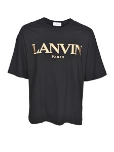 Lanvin - Branded T-shirt in black and gold