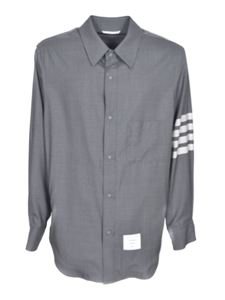 Thom Browne - Sleeve bands shirt in gray