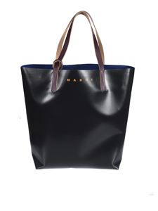 Marni - Branded tote bag in two-tone