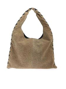 Borbonese - Medium Chelsea bag in beige and brown