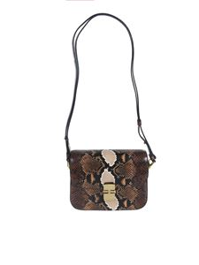 A.P.C. - Grace small reptile effect bag in brown