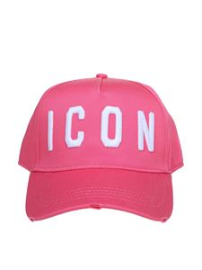 Dsquared2 - Logo embroidery hat in pink