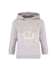 Gucci - Floral GG hoodie in gray