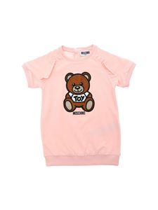 Moschino Kids - Teddy embroidery dress in pink