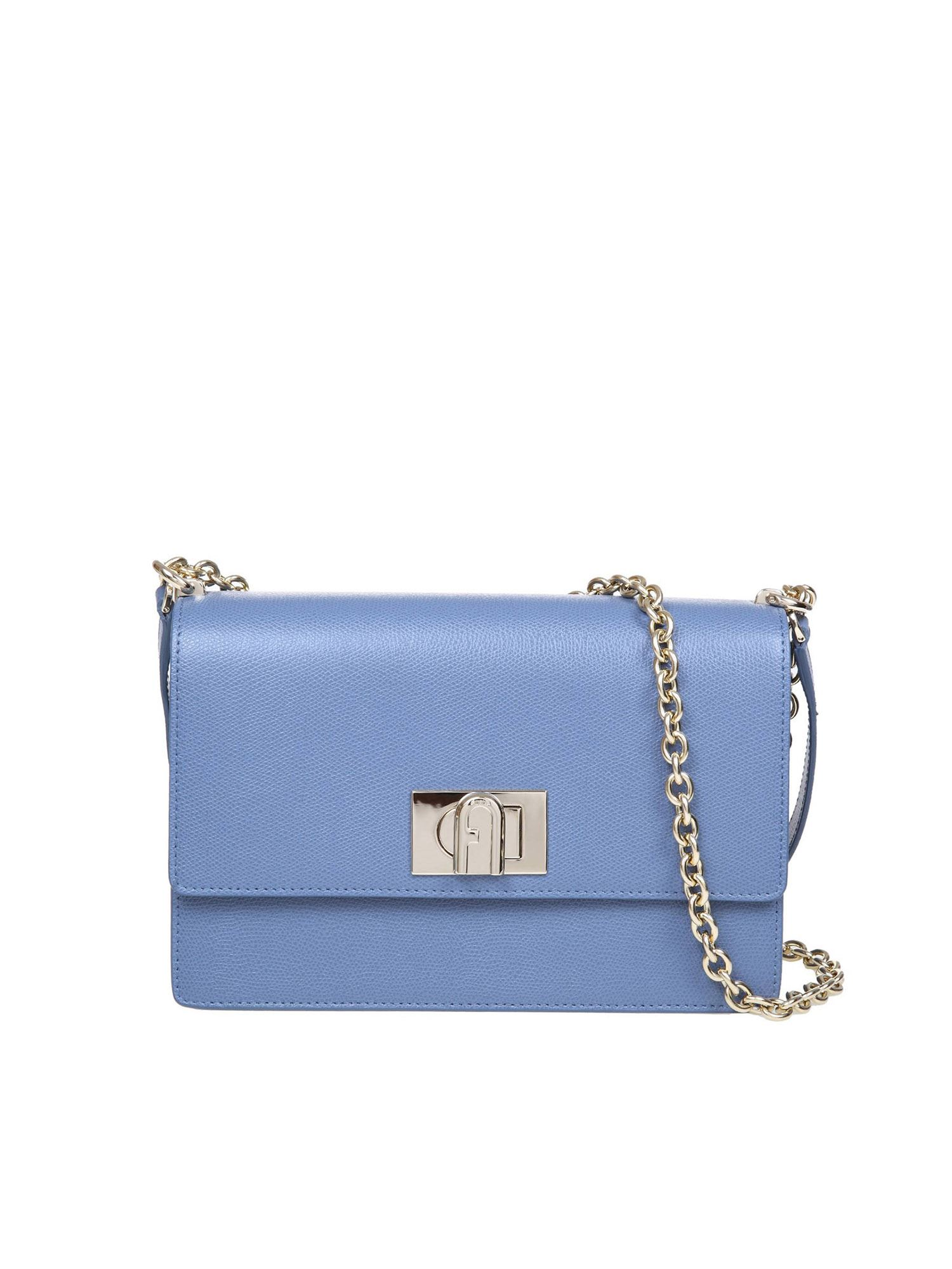 Furla 1927 MINI CROSSBODY BAG IN DENIM BLUE