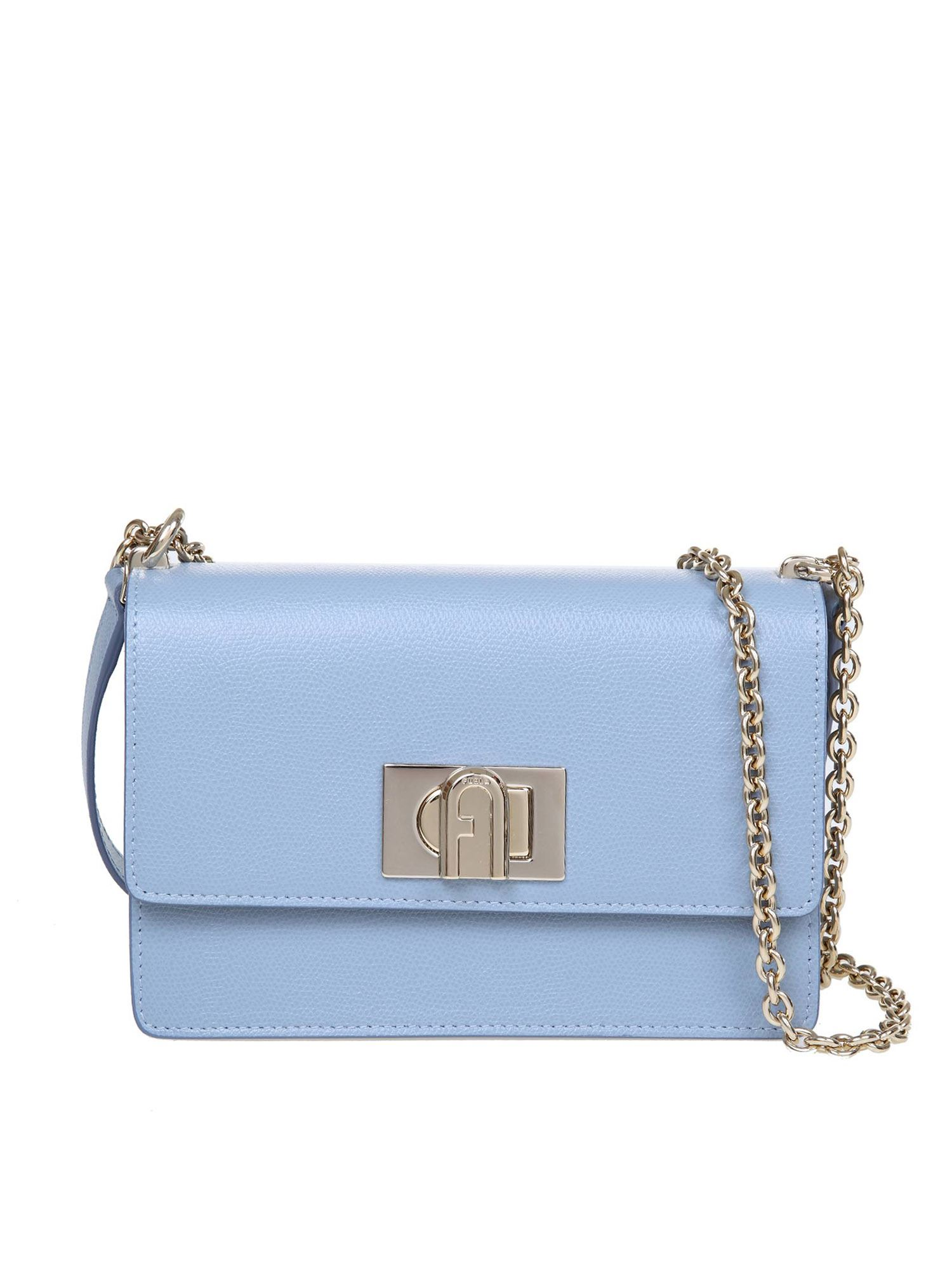 Furla 1927 MINI CROSSBODY BAG IN LIGHT BLUE