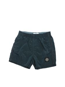 Stone Island Junior - Logo swim short in blue