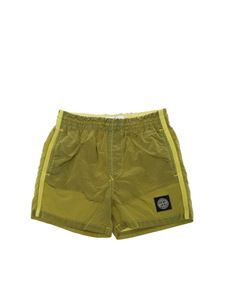 Stone Island Junior - Logo swim short in green