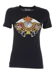 Versace Jeans Couture - Versailles print T-shirt in black