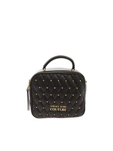 Versace Jeans Couture - Quilted-effect crossbody bag in black