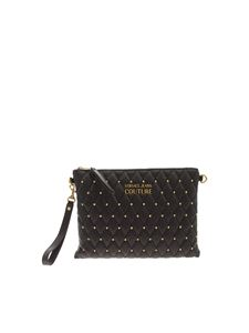 Versace Jeans Couture - Studs quilted clutch bag in black