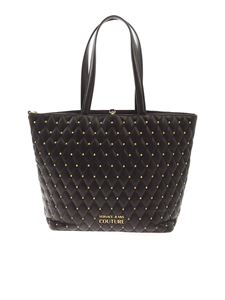 Versace Jeans Couture - Shopper nera con borchie