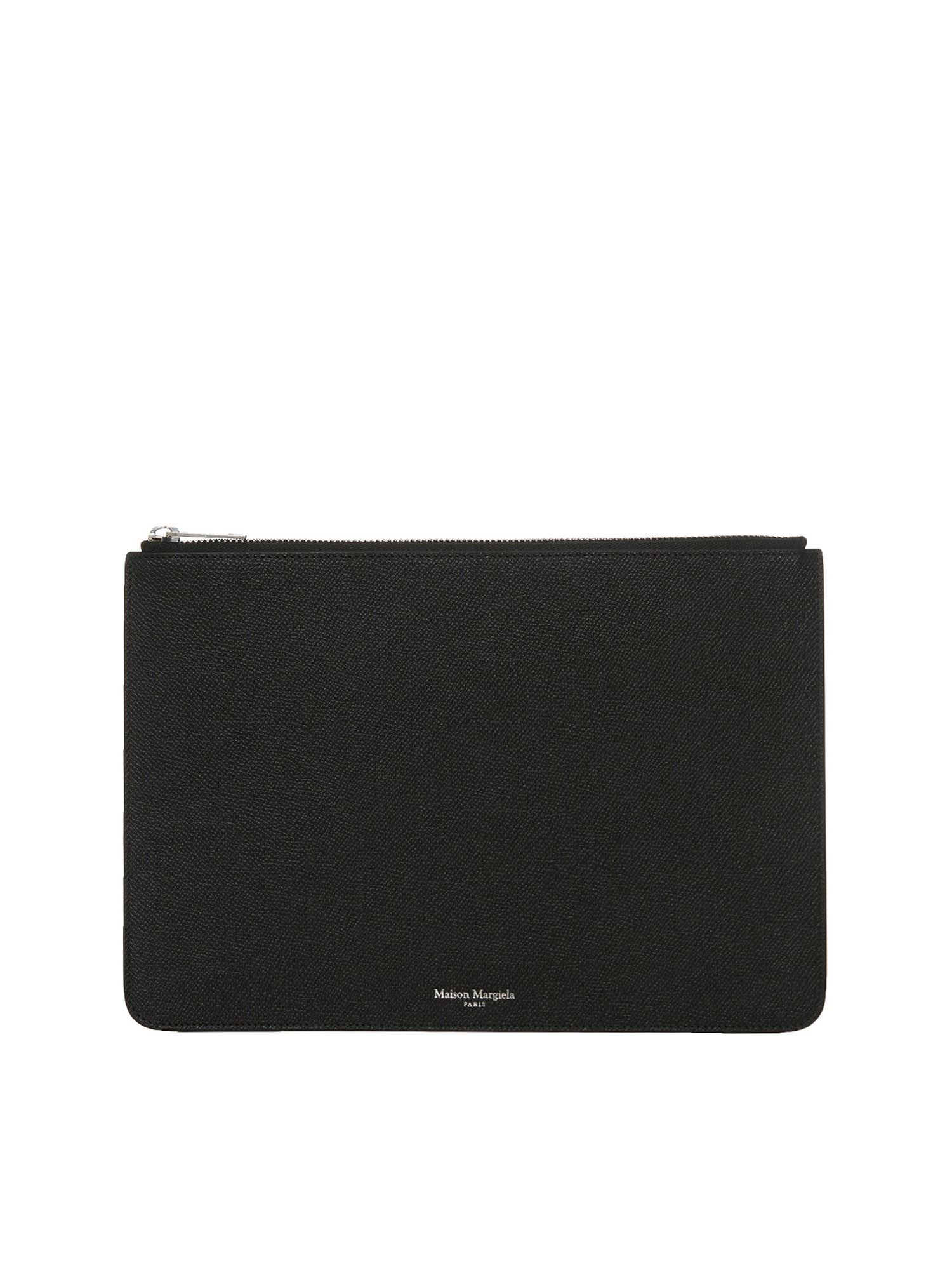 Maison Margiela 4-STITCHING POUCH IN BLACK