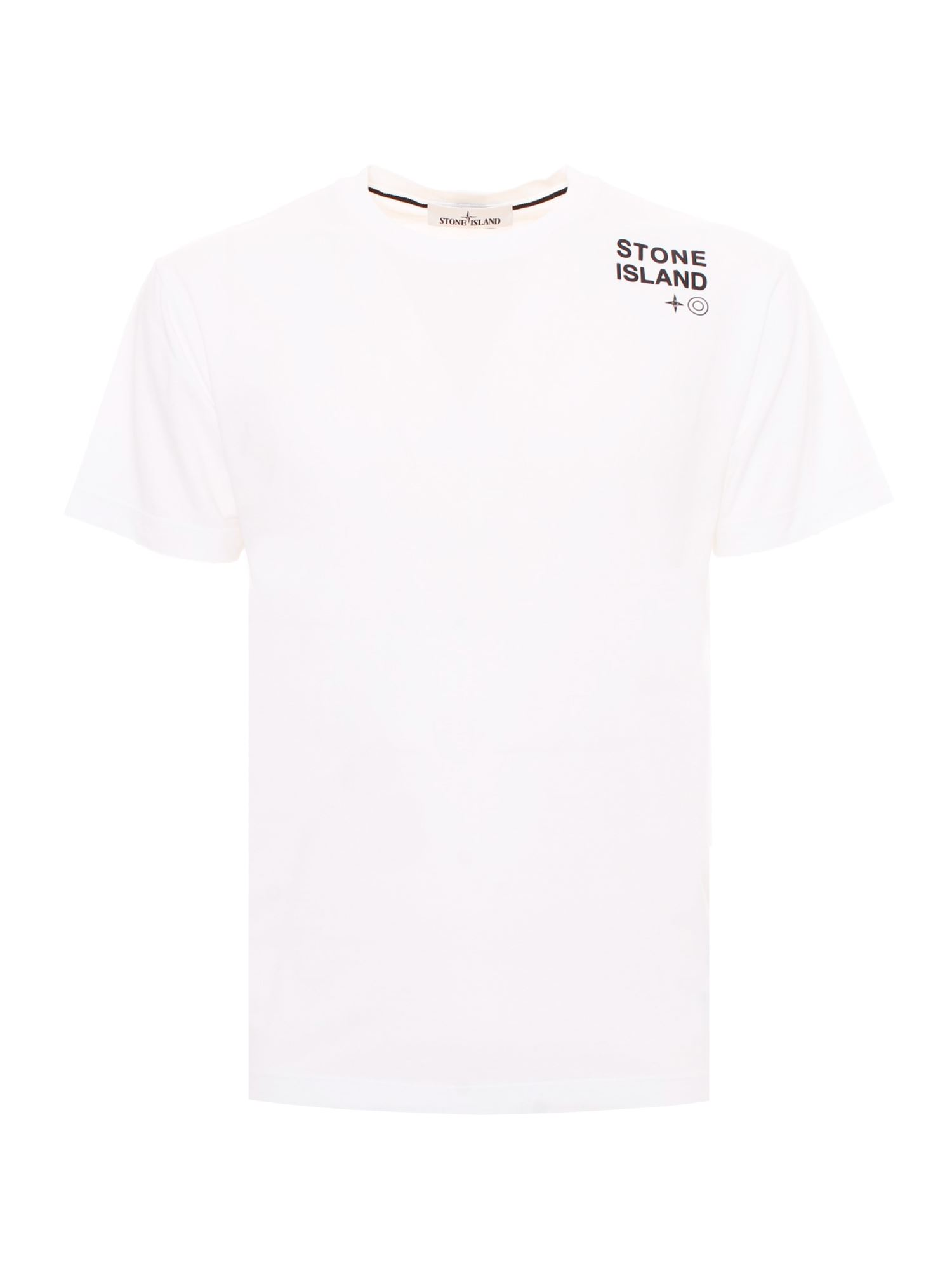 Stone Island LOGO LETTERING T-SHIRT IN WHITE