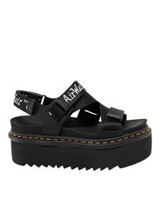 Dr. Martens - Nylon sandals with structured sole in black