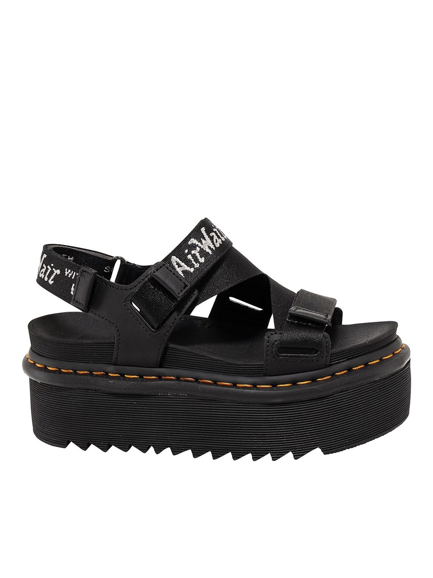 Dr. Martens NYLON SANDALS WITH STRUCTURED SOLE IN BLACK