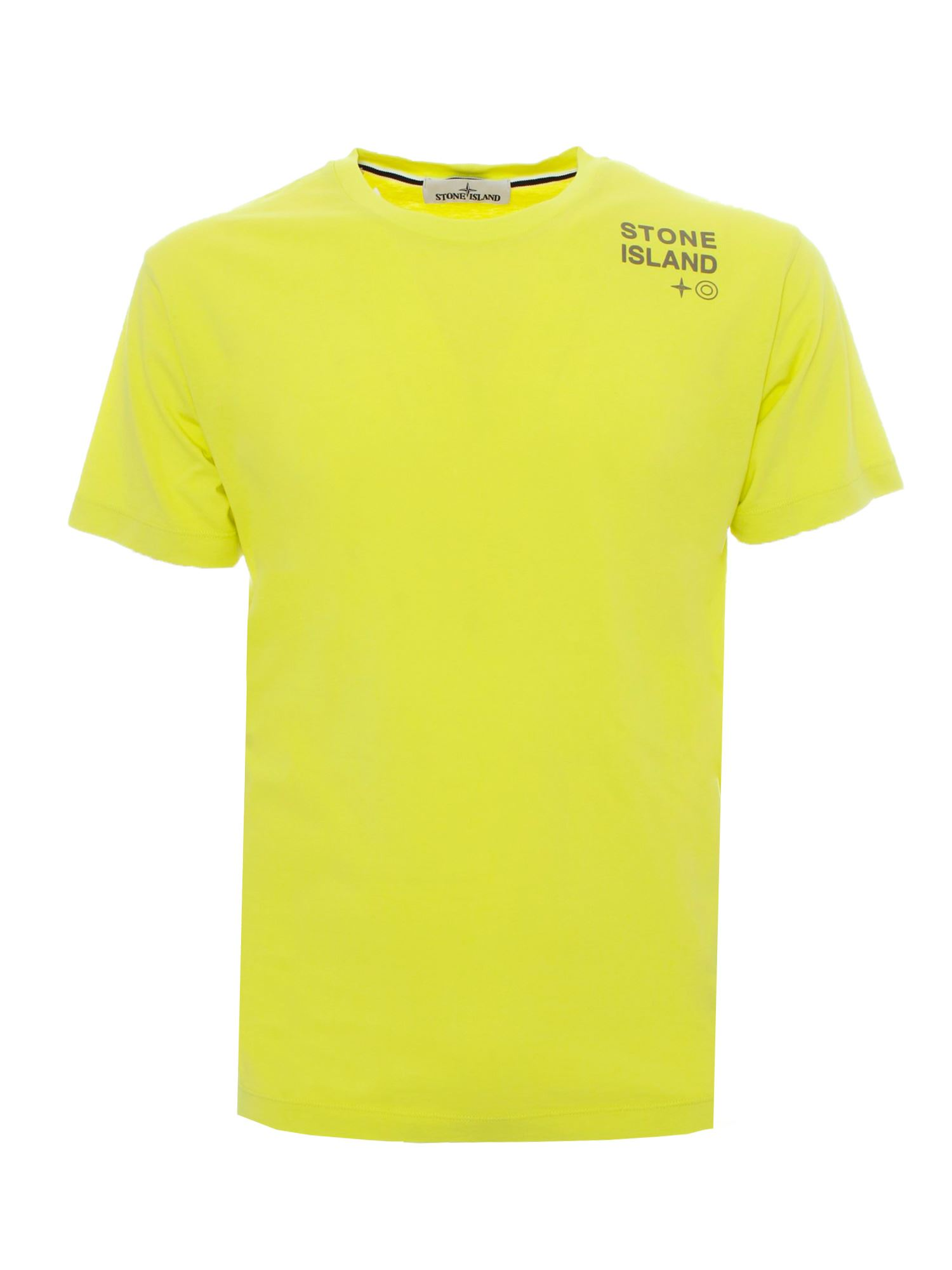 Stone Island LOGO LETTERING T-SHIRT IN YELLOW