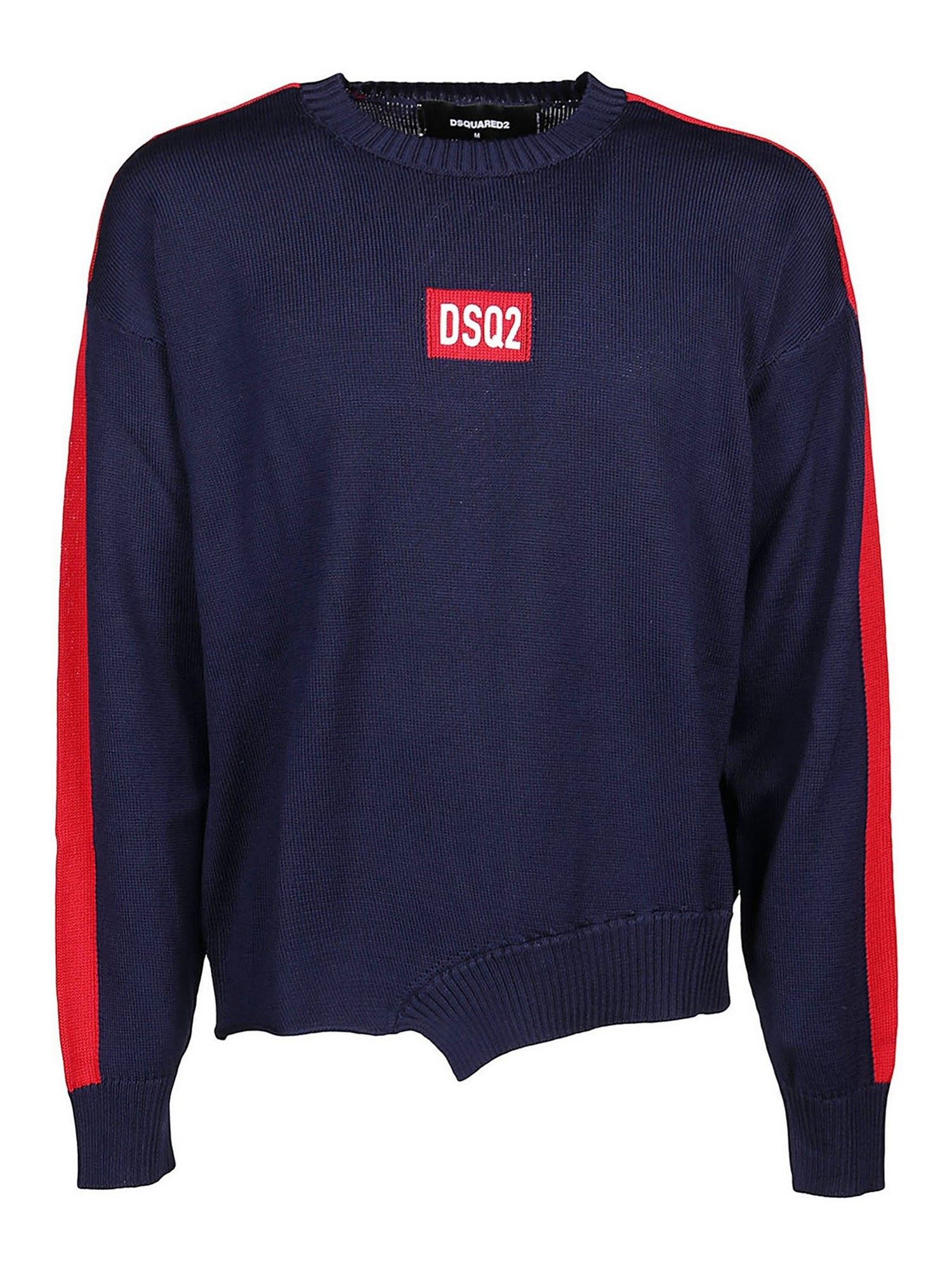 Dsquared2 WOOL CREWNECK IN BLUE
