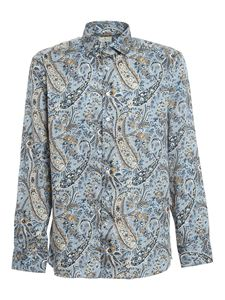 Etro - Paisly cotton shirt in light blue