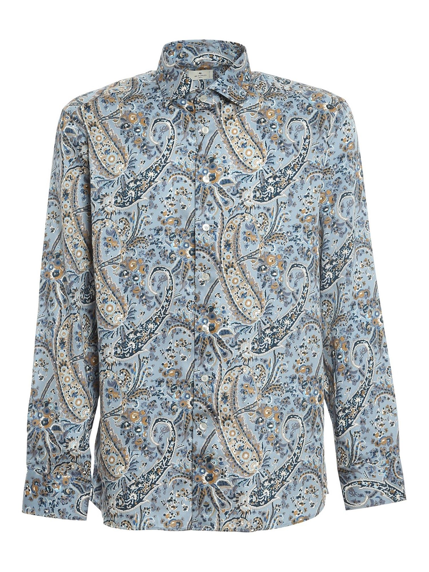 Etro PAISLY COTTON SHIRT IN LIGHT BLUE