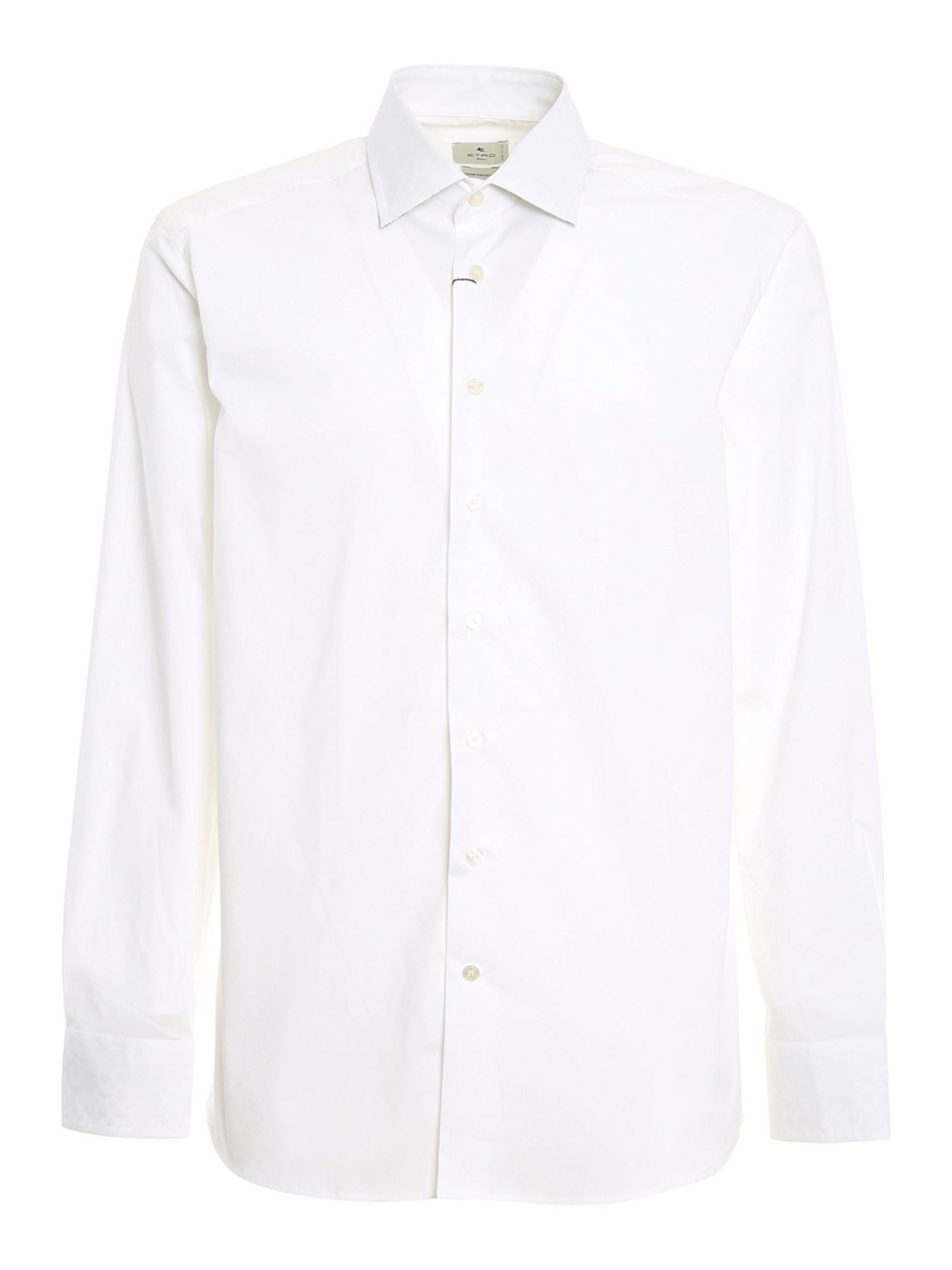 Etro COTTON POPLIN SHIRT IN WHITE