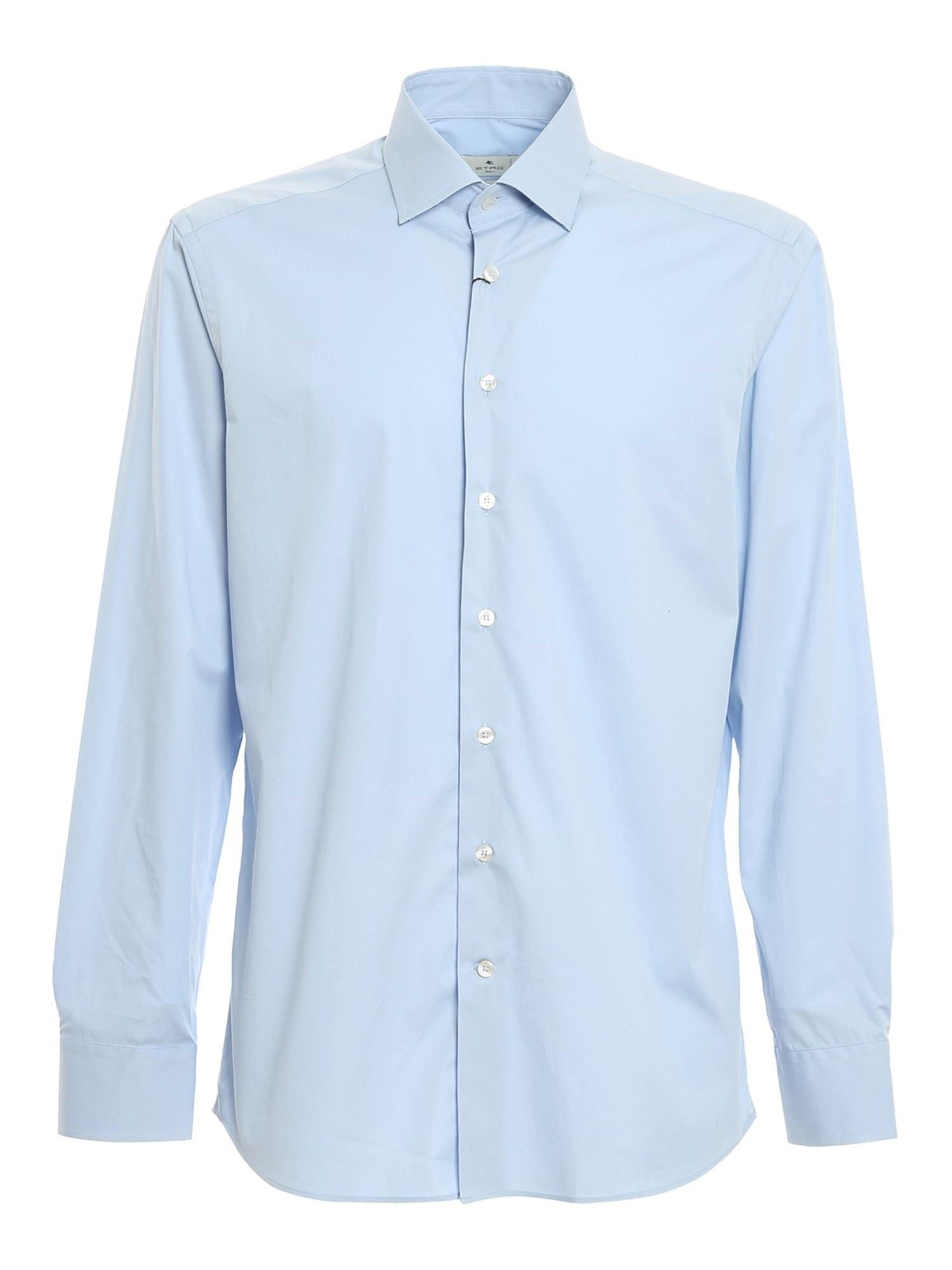 Etro COTTON POPLIN SHIRT IN LIGHT BLUE