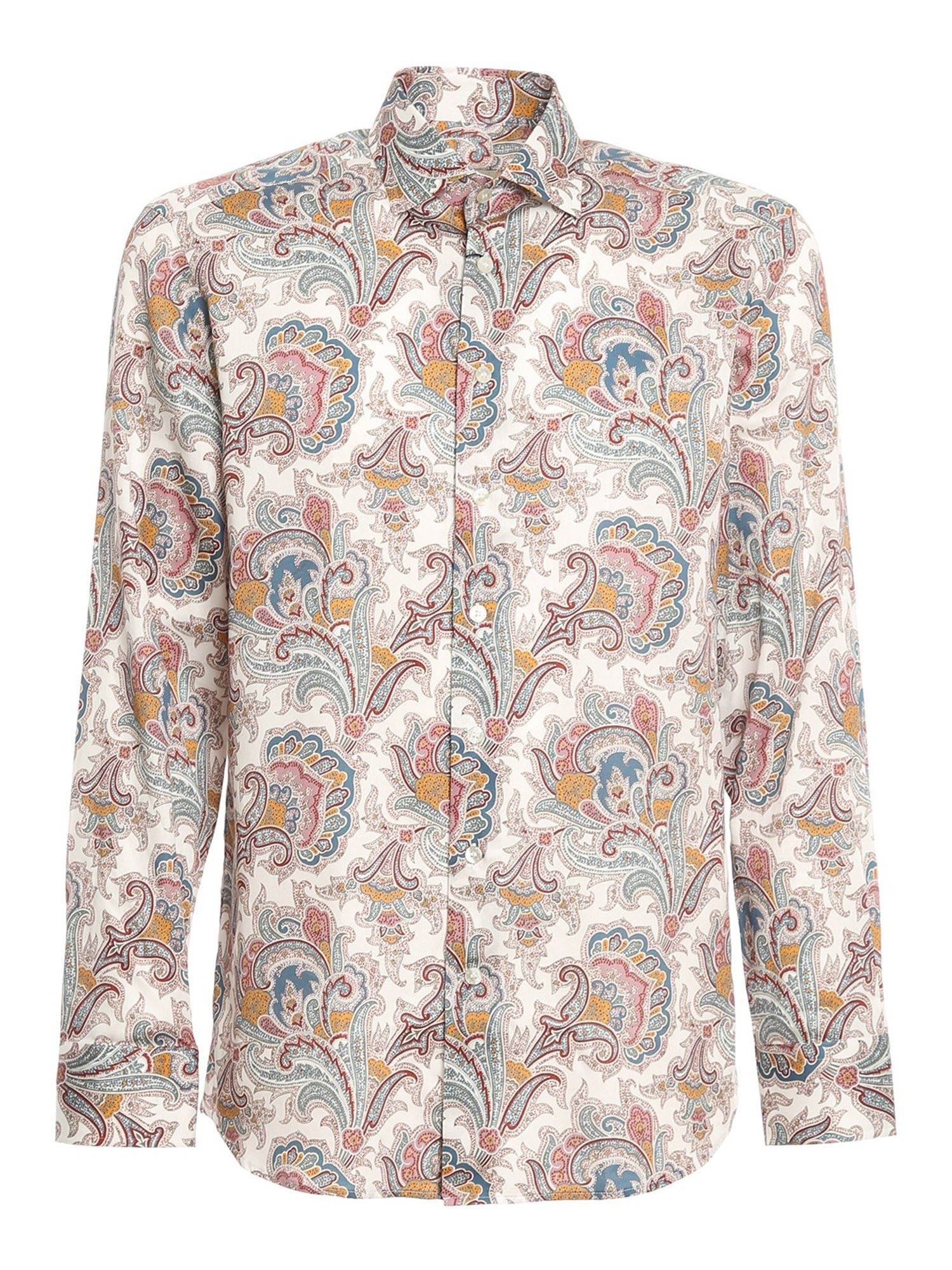 Etro PAISLY COTTON SHIRT IN MULTICOLOR
