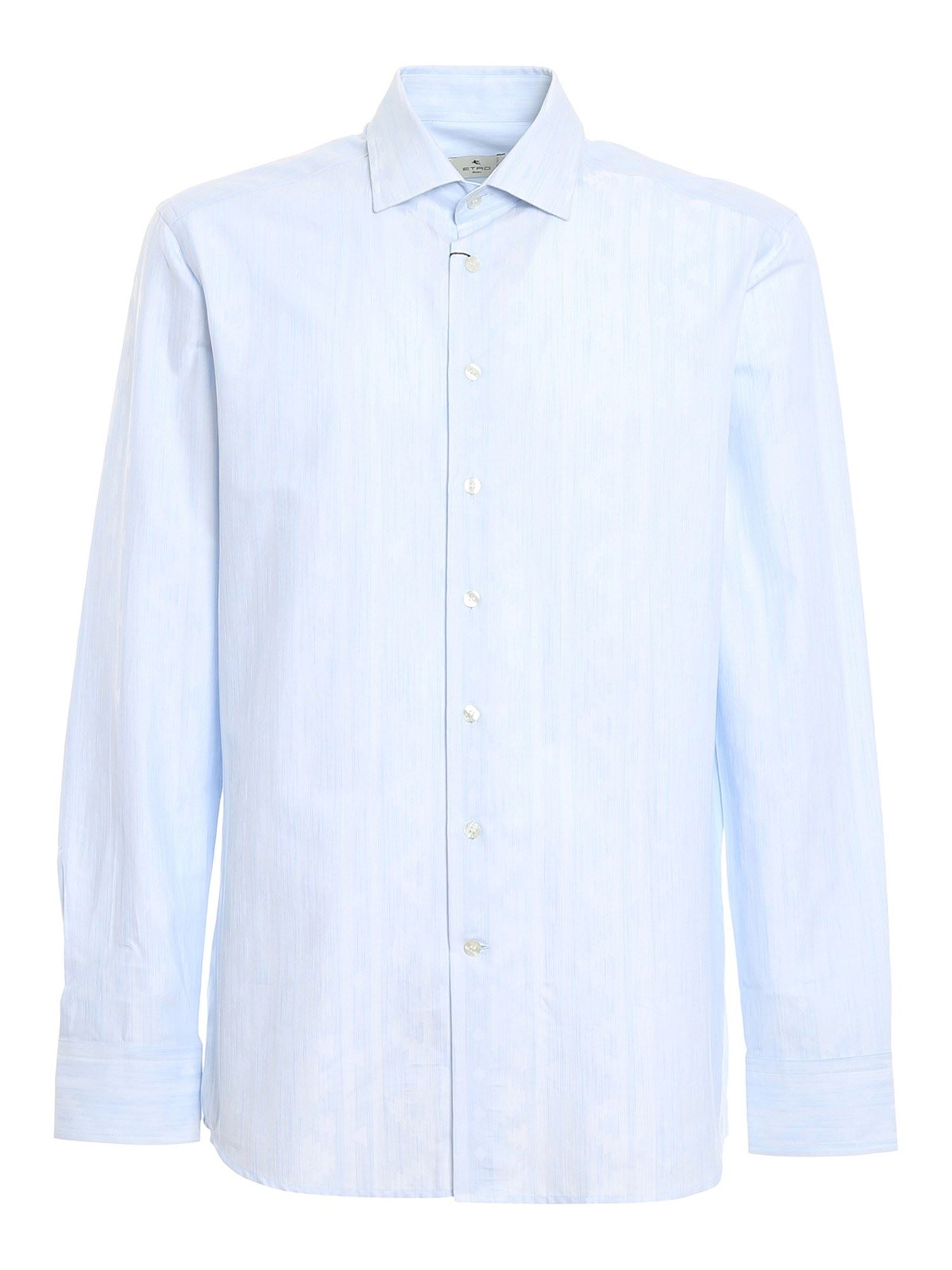 Etro GEOMETRIC NAÏF PATTERNED SHIRT IN LIGHT BLUE