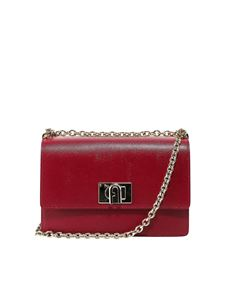Furla - 1927 small leather satchel bag in red