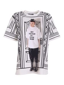 Moschino - Printed T-shirt in black and white