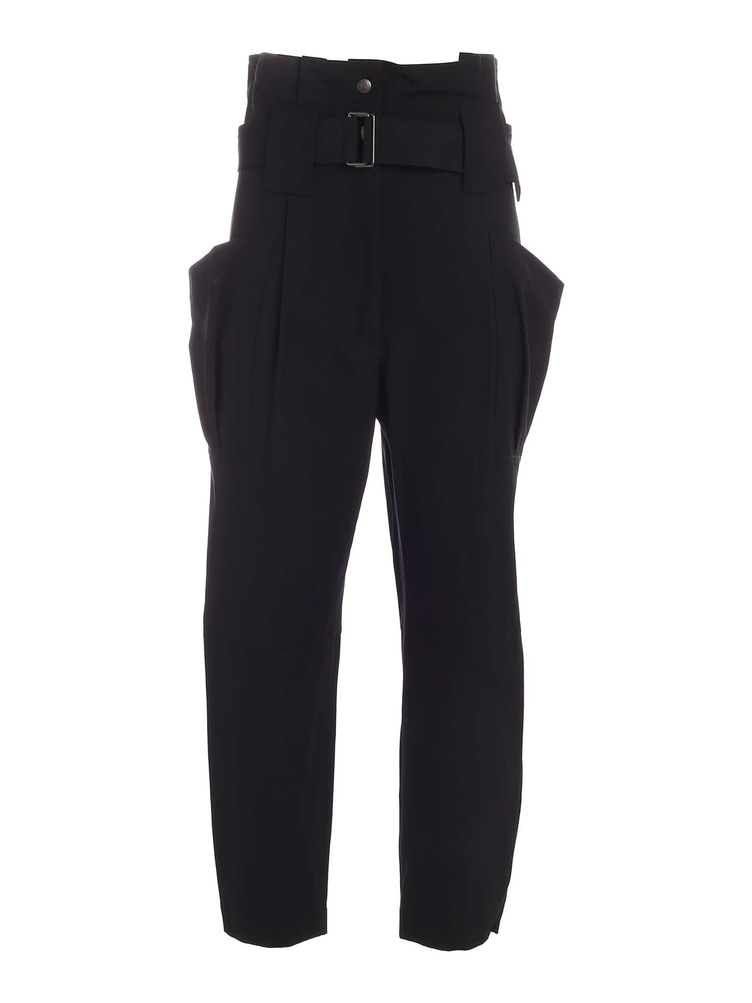 Kenzo Cottons PAPERBAG PANTS IN BLACK