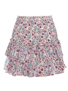 Isabel Marant Étoile - Ruffled floral cotton skirt in multicolor